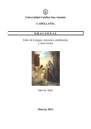 Para mi reflexión - Universidad Católica San Antonio de Murcia