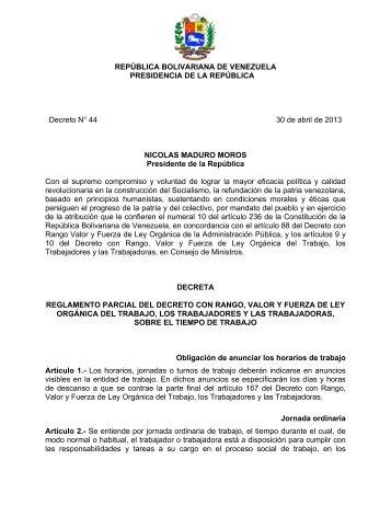 Reglamento-Parcial-LOTTT-Gaceta-Oficial-N%C2%BA-40.157