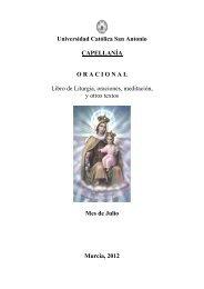 Universidad Católica San Antonio CAPELLANÍA ORACIONAL Libro ...