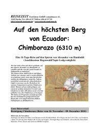 Chimborazo (6310 m) - REISEZEIT Tourismus GmbH