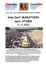 Vom Dorf MARATHON nach ATHEN - REISEZEIT Tourismus GmbH
