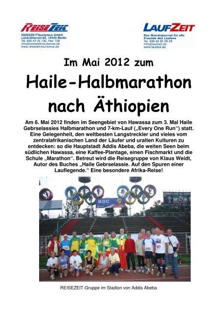 Haile-Halbmarathon nach Äthiopien - REISEZEIT Tourismus GmbH