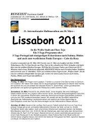 Flyer LISSABON 2011 Homepage - REISEZEIT Tourismus GmbH