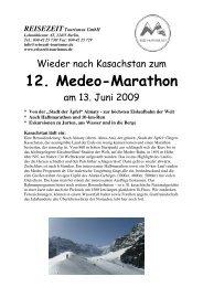 Flyer Medeo 09 - REISEZEIT Tourismus GmbH