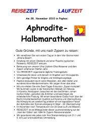 Aphrodite- Halbmarathon - REISEZEIT Tourismus GmbH