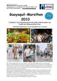 Guayaquil-Marathon 2010 - REISEZEIT Tourismus GmbH