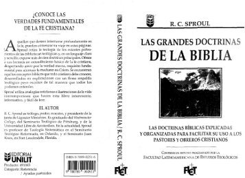 Las grandes doctrinas de la Biblia - Iglesia Reformada