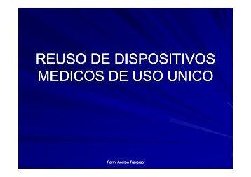 REUSO DE DISPOSITIVOS MEDICOS DE USO UNICO