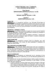 1 CODIGO PROCESAL CIVIL Y COMERCIAL DE LA ... - Justia