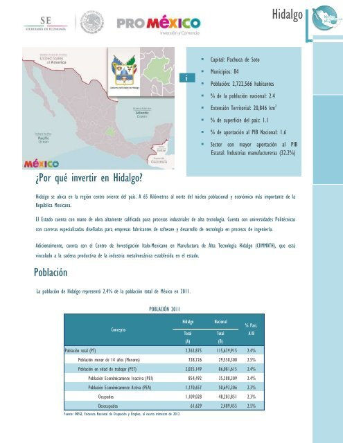 Hidalgo Mapa De Inversion En Mexico