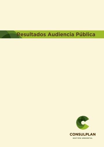 Resultados_Audiencia_Pública - Organismos