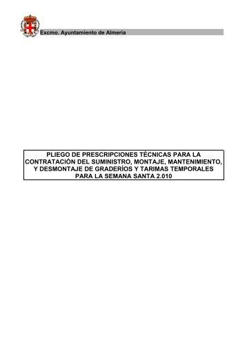 Pliego prescripciones técnicas Gradas 2010.pdf - Ayuntamiento de ...