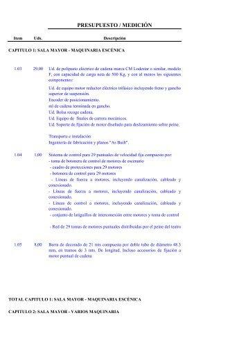 (EQUIPAMIENTO ESC\311NICO ILUMINACI\323N Y ...