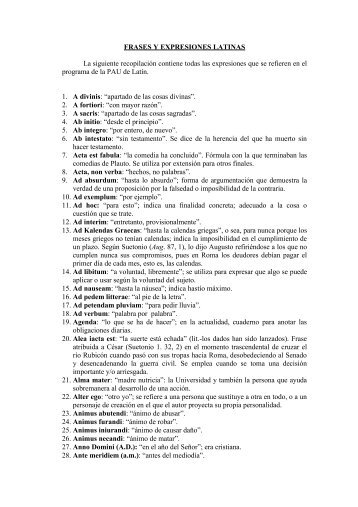 FRASES Y EXPRESIONES LATINAS - Ministerio de Educación ...