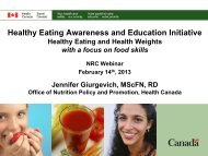 Healthy Eating Awareness and Education Initiative