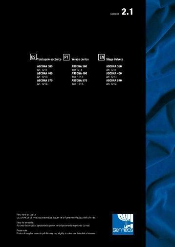 Terciopelo escénico ASCONA 400 - Gerriets