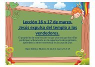 Jesús expulsa del templo a los vendedores (Estrellitas