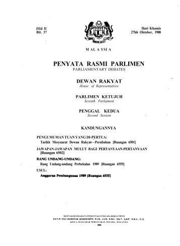 PENYATA RASMI PARLIMEN - Parlimen Malaysia