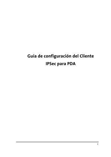Manual IPSec PDA - Movistar