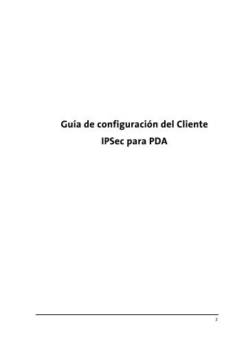 Manual IPSec PDA - Movistar