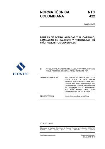 NTC 422 - Icontec