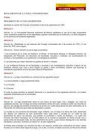 REGLAMENTO DE LA TOGA UNIVERSITARIA - UNAM