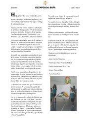 OLIMPIADA SAFA - Colegio Sagrada Familia