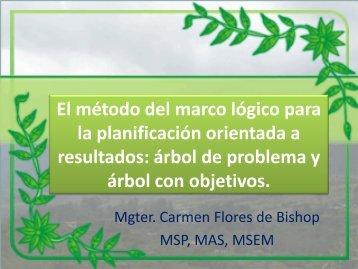 Mgter. Carmen Bishop. Presentación en PowerPoint Parte 1. - PASCA