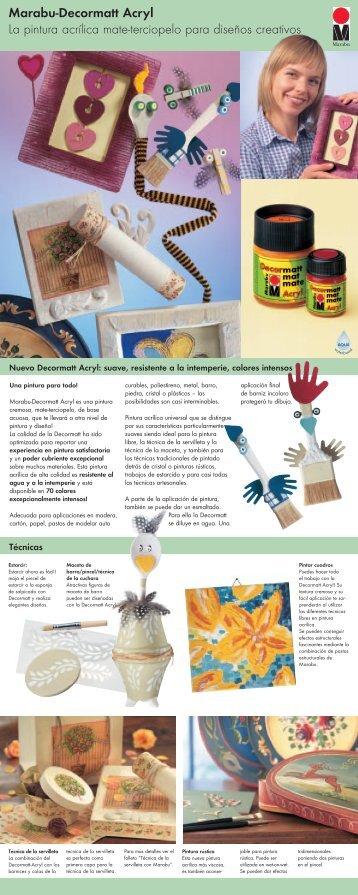 Marabu-Decormatt Acryl La pintura acrílica mate-terciopelo para ...