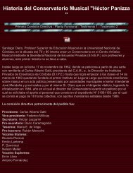 Conservatorio Héctor Panizza - Historia de Laguna Larga