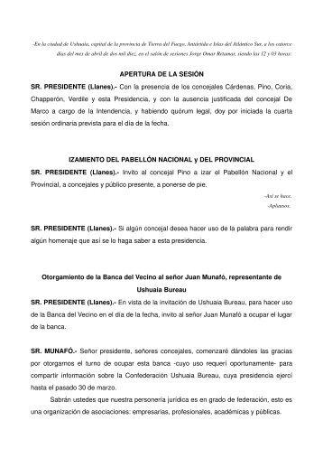 sesion 14-04-2010.pdf - Concejo Deliberante de Ushuaia