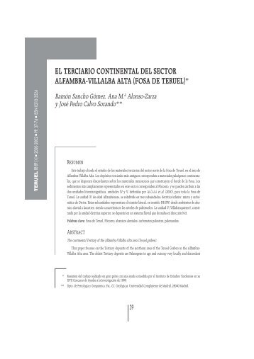 el terciario continental del sector alfambra-villalba alta (fosa de teruel)