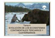 Tema 4 EVOLUCIÓN DE LOS ECOSISTEMAS ... - Aragosaurus