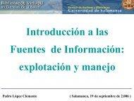 Introducción a las Fuentes de Información: explotación ... - Bibliotecas