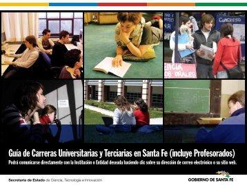 Guía de Carreras Universitarias y Terciarias en Santa Fe (incluye ...