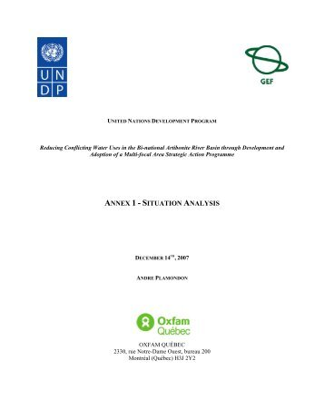 ANNEX 1 - SITUATION ANALYSIS - Global Environment Facility