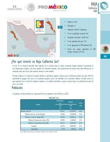 Baja - Mapa de inversión en México