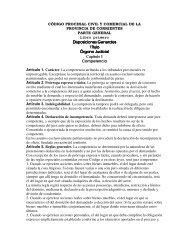 CÓDIGO PROCESAL CIVIL Y COMERCIAL DE LA PROVINCIA DE ...