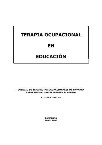 Terapia Ocupacional en Educación. - Terapia-Ocupacional.com