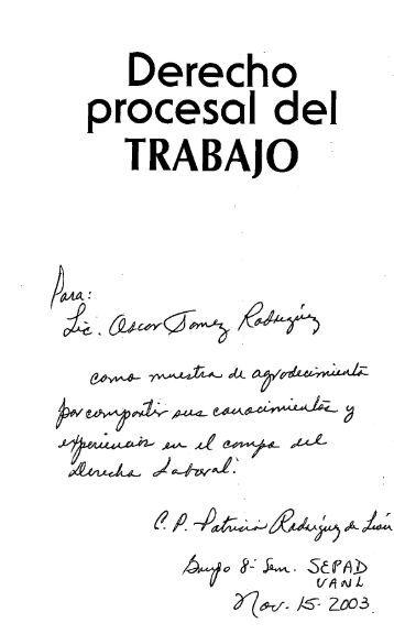 DERECHO PROCESAL DEL TRABAJO.pdf - Index of /prueba ...