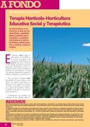 Terapia Hortícola. Horticultura Educativa Social y ... - Imserso
