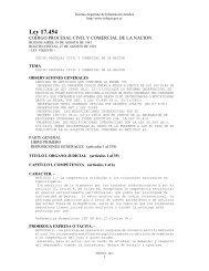 Código Procesal Civil y Comercial de la Nación - Sistema Argentino ...