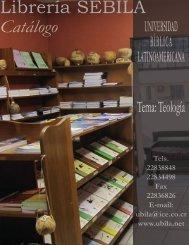 Libros sobre temas teológicos - Universidad Bíblica Latinoamericana