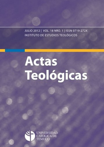 Actas Teológicas - Repositorio Digital - Universidad Católica de ...