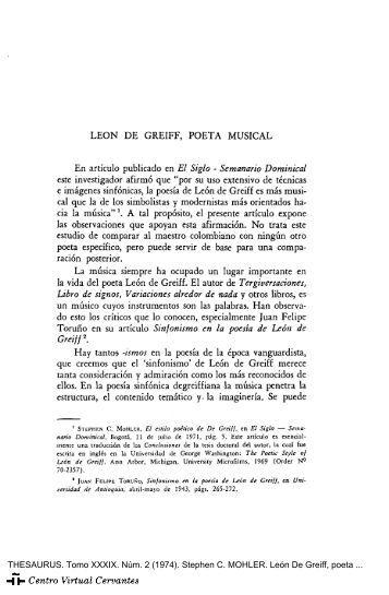 León De Greiff, poeta musical