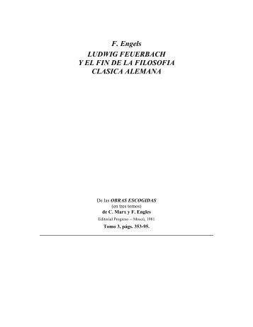 Ludwig Feuerbach y el fin de la filosofía clásica alemana - Partido ...