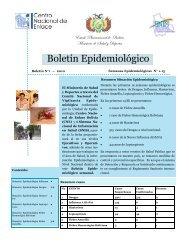 Boletín Epidemiológico - Ministerio de Salud y Deportes de Bolivia