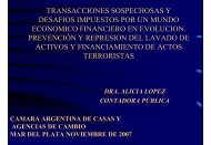 operación sospechosa - Cámara Argentina de Casas y Agencias de ...