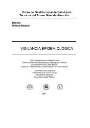 Décima Unidad Modular : vigilancia epidemiológica - CENDEISSS