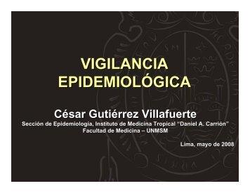 VIGILANCIA EPIDEMIOLÓGICA - EPIREDPERU